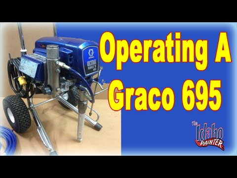 Operating a Graco 695 Airless Sprayer.  Paint Sprayer Instructions.  How to use an airless sprayer.