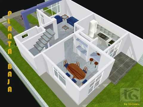Casa 3d ejemplo fachada trazzos g youtube for Hacer casas en 3d online