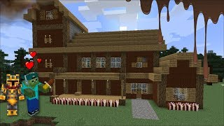 Minecraft SPAWNING CHOCOLATE INSIDE MARK THE ZOMBIE HOUSE !! Minecraft Mods