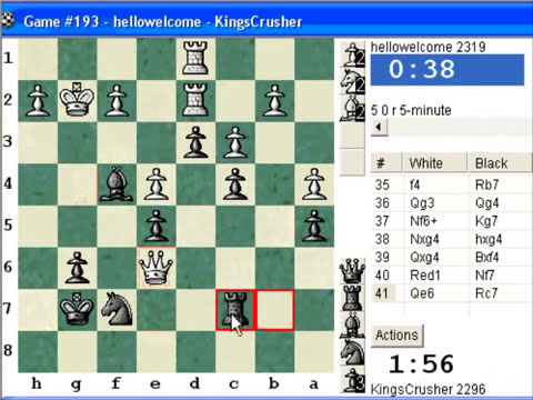 Chess World.net:  Blitz #351 vs. hellowelcome (2319) - Robatsch (modern) defense (B06)