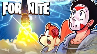 FORTNITE BR - ROCKET LAUNCH REACTION! With Dual Pistols, Traps and Stink Grenades! (Funny Moments)