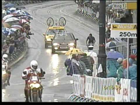 Lance Armstrong wint WK wielrennen 1993 in Oslo