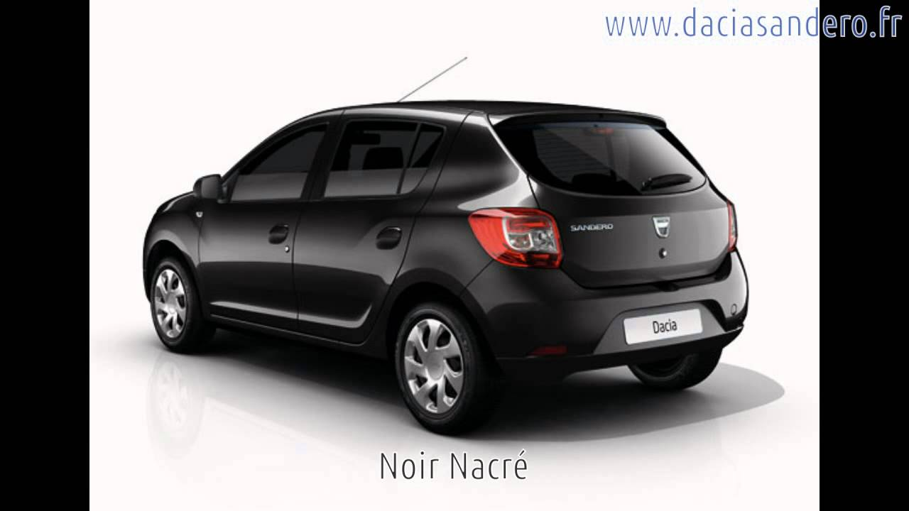 couleurs de la dacia sandero 2012 2013 youtube. Black Bedroom Furniture Sets. Home Design Ideas