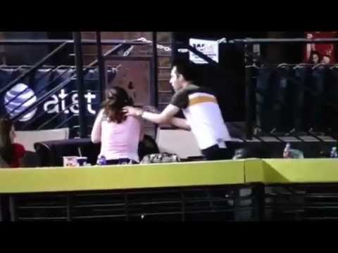 Guy lets girlfriend get hit in the face by home run at St. Louis Cardinals Game