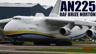 Incredible World's Biggest Plane (Antonov 225) Powerful Takeoff | RAF Brize Norton, UK (With ATC)