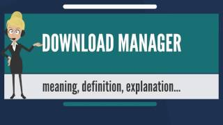 What is DOWNLOAD MANAGER? What does DOWNLOAD MANAGER mean? DOWNLOAD MANAGER meaning