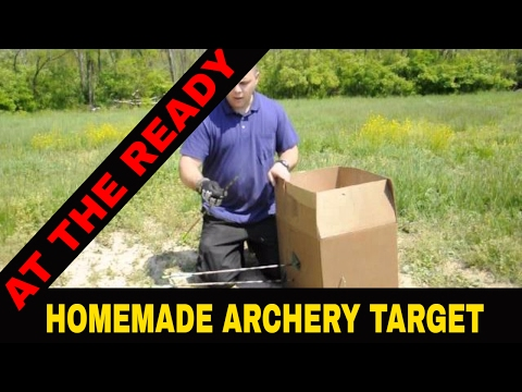 HOME MADE CHEAP ARCHERY TARGET