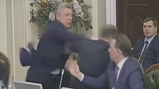 Lawmakers Fist Fight During Ukrainian Parliamentary Meeting
