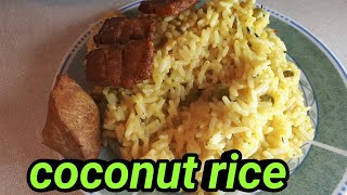 My simple way of preparing coconut rice||sunday morning routine