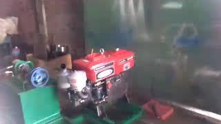 Mesin press limbah plastik penggerak diesel
