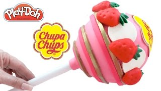 Play-Doh How to Make a Giant Chupa Chups with Modelling Clay * Creative DIY for Kids RainbowLearning