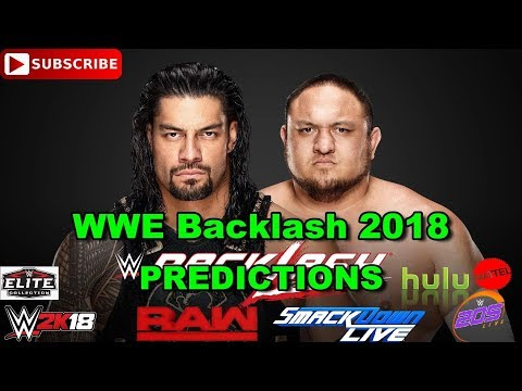 WWE Backlash 2018 Roman Reigns vs  Samoa Joe Predictions WWE 2K18 thumbnail