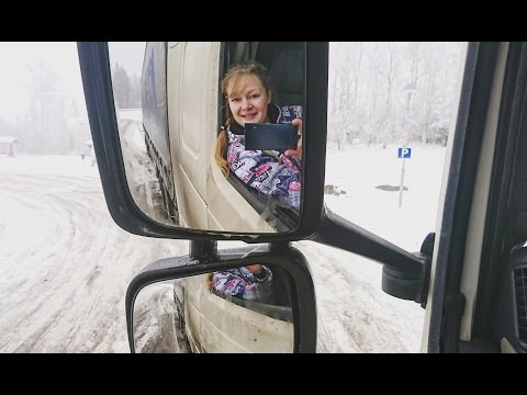 Trucking Girl One day together with me and a black ice