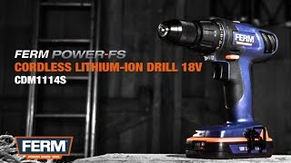 Cordless Drill  (18V)  with Lithium-Ion Batteries  |  CDM1114S