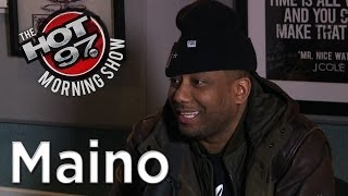 Maino clears up Trinidad James beef + gives out his number on air!