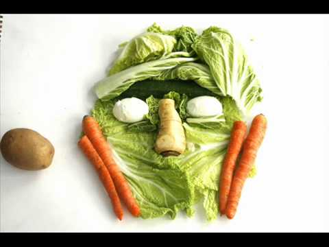 Healthy food-stop motion animation