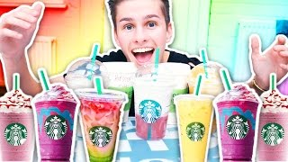 TASTING STARBUCKS SECRET MENU! CRAZY DRINKS STARBUCKS UK