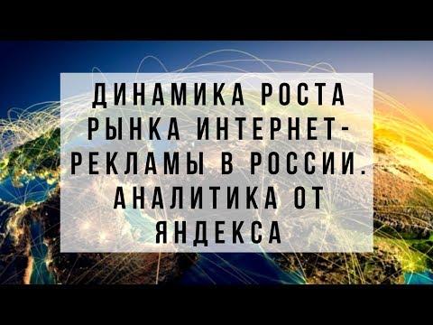 Динамика роста рынка интернет-рекламы в России. Тренды интернет-рынка. Аналитика от Яндекса