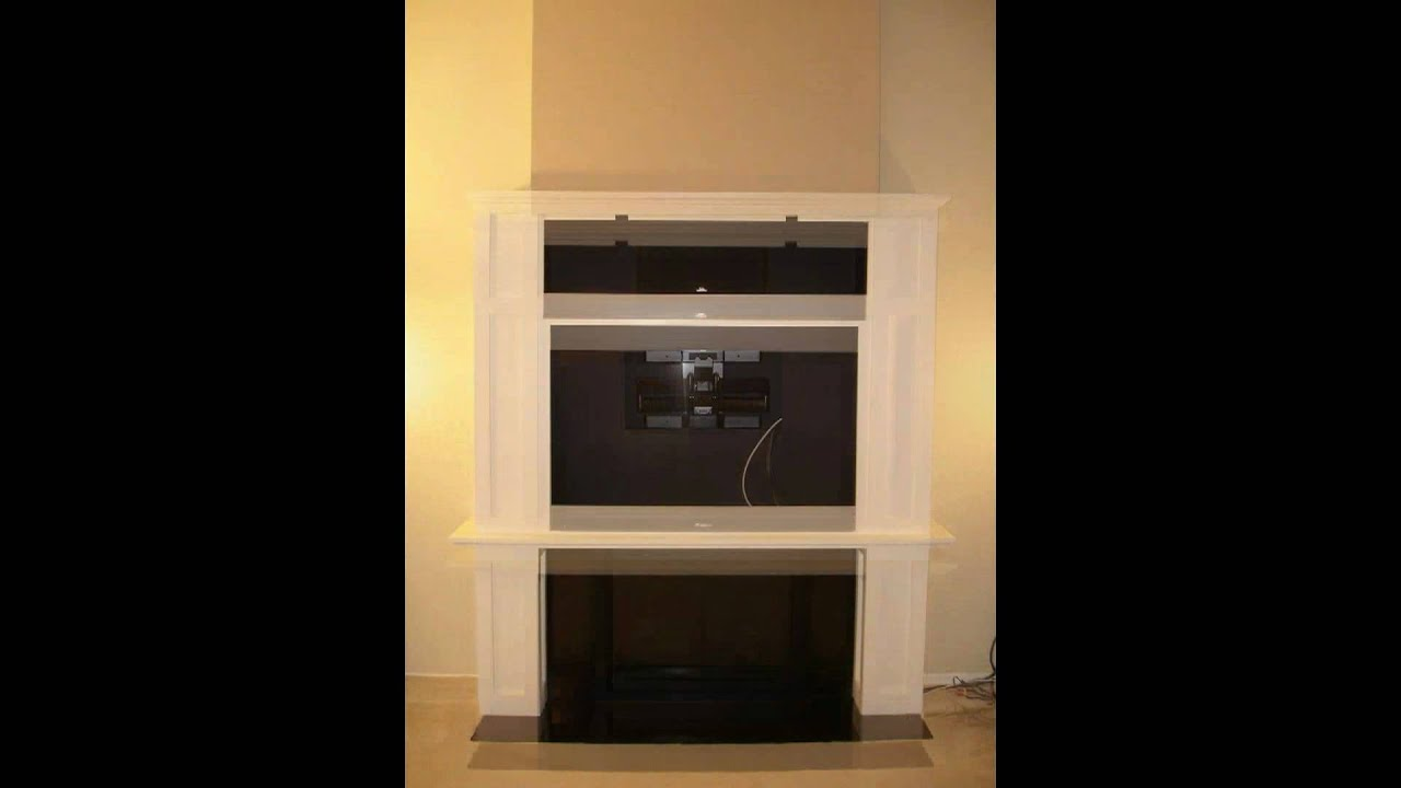 fireplace plasma tv cabinet project time lapse youtube