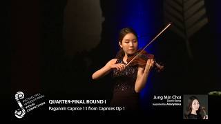 2017 Round #1 Competitor #2 J M Choi | Paganini: Caprice 11 from Caprices Op 1