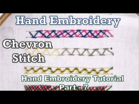 Chevron Stitch & Variations | Hand Embroidery Course