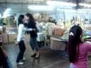 Lupe dancing cumbia