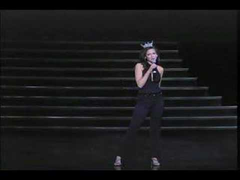 """Julia Marie Bachison performs """"I've Got the World on a String"""""""