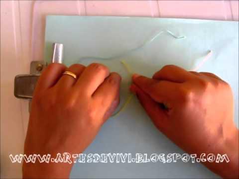 Como Fazer uma Pulseira de Macramé com Desenho em Diagonal