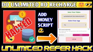 Free Jio Recharge By This App   Wheel Charge Refer Hack Script   Wheel Charge Money Adder Script