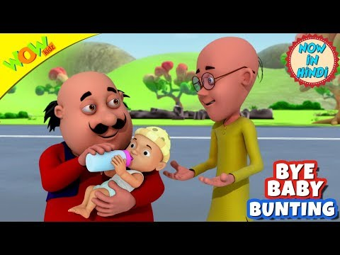 Bye Baby Bunting | 3D Animated Kids Songs | Hindi Songs for Children | Motu Patlu | WowKidz thumbnail