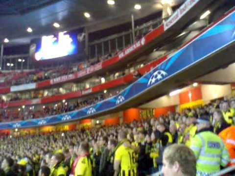 Dortmund Fans Youtube Dortmund Fans@emirates Stadium