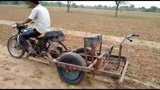 JODHPUR: he pluoghed the farm by motorcycle