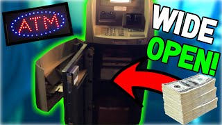 Found An Unlocked OPEN ATM With Stacks Of CASH Inside Next To The Claw Machine!! (EPIC FAIL!!)