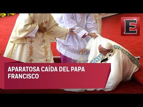 Aparatosa caída del Papa Francisco