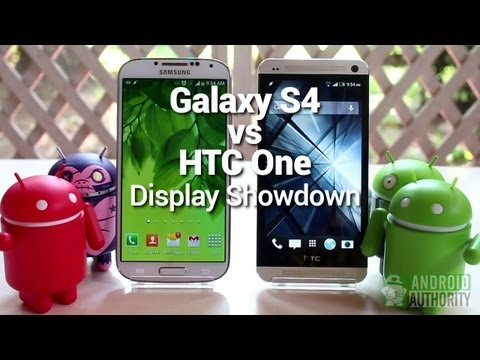 Galaxy S4 vs HTC One : Display Comparison