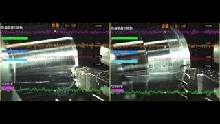 ハイスピードカメラ+データロガー 「旋盤切削」