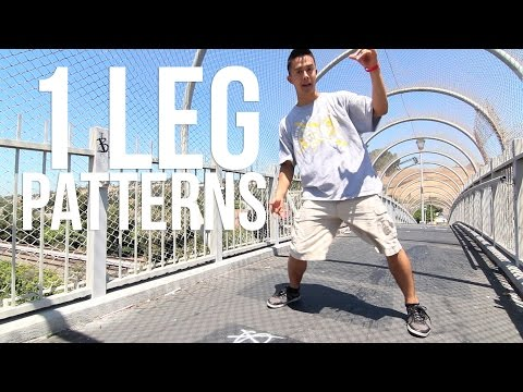 How to Breakdance | 1 Leg Patterns | Top Rock Basics
