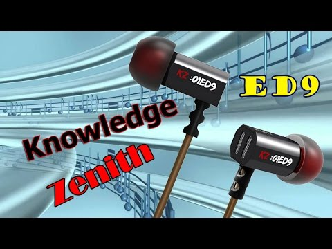 ✔ Обзор ✔ наушники Knowledge Zenith ED9 Kz
