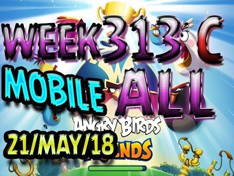 Angry Birds Friends Tournament All Levels Week 313-C MOBILE Highscore POWER-UP walkthrough