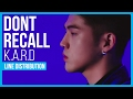 K.A.R.D - Don't Recall Line Distribution (Color Coded) MP3