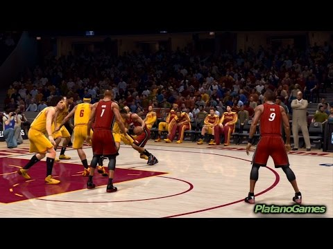 NBA 2014 - Miami Heat vs Cleveland Cavaliers - 2nd Qrt - NBA Live 14 PS4 - HD