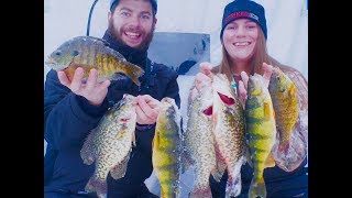 Ice Fishing Northern WI GIANT PANFISH!