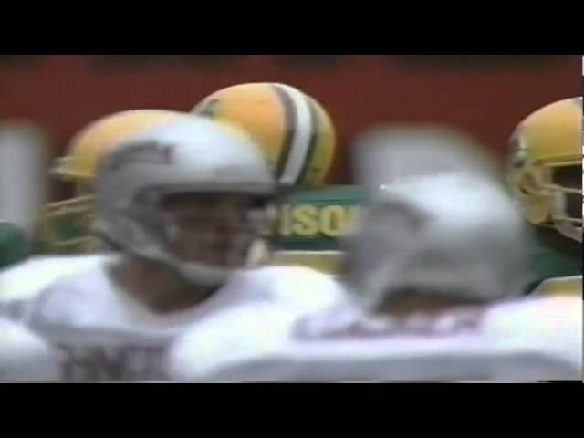 Oregon DE Romeo Bandison big hit on WSU QB Drew Bledsoe 9-07-1991