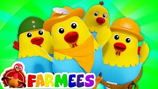 số năm nghịch ngợm gà mái béo | nhac thieu nhi hay nhất | Five Naughty Fat Hens | Farmees Vietnam