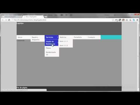 Dreamweaver CS6 Intermedio - Cómo hacer un menú desplegable. Parte 1
