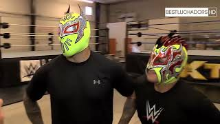 Kalisto and Sin Cara Lucha Dragons   Outside The Ring  !!!