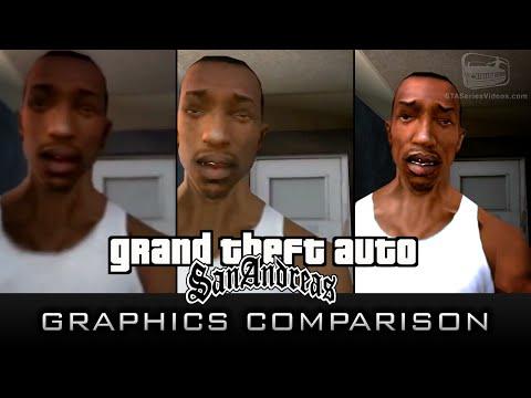 GTA San Andreas Graphics Comparison (Xbox 360, PC & PS2)