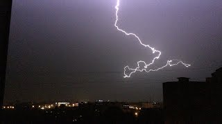 Тверь. Lightning. Storm. Super cell.