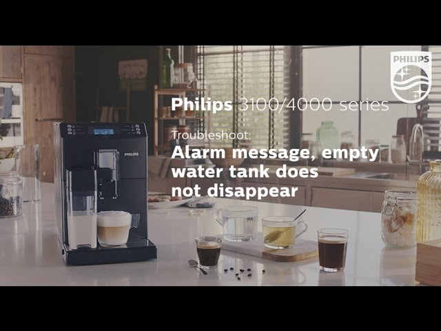 Empty water tank message does not disappear from the display of my Philips espresso machine.