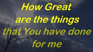 Watch Robin Mark How Great Are You Lord video
